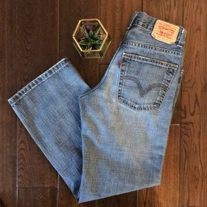 Levi's red tag 569 loose and straight high rise